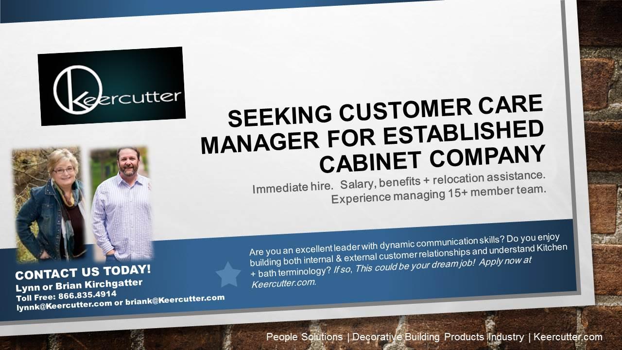 seeking customer care manager