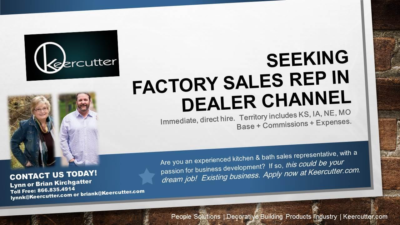 DEALER SALES REP WANTED -   Keercutter and Associates